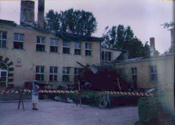 Szkoła po pożarze